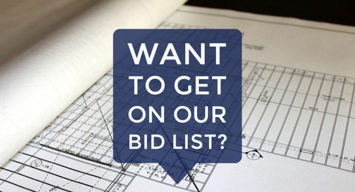 Want to get on our bid list bay to bay properties for Get bids